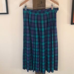 Vintage Pendleton Pleated Midi Skirt